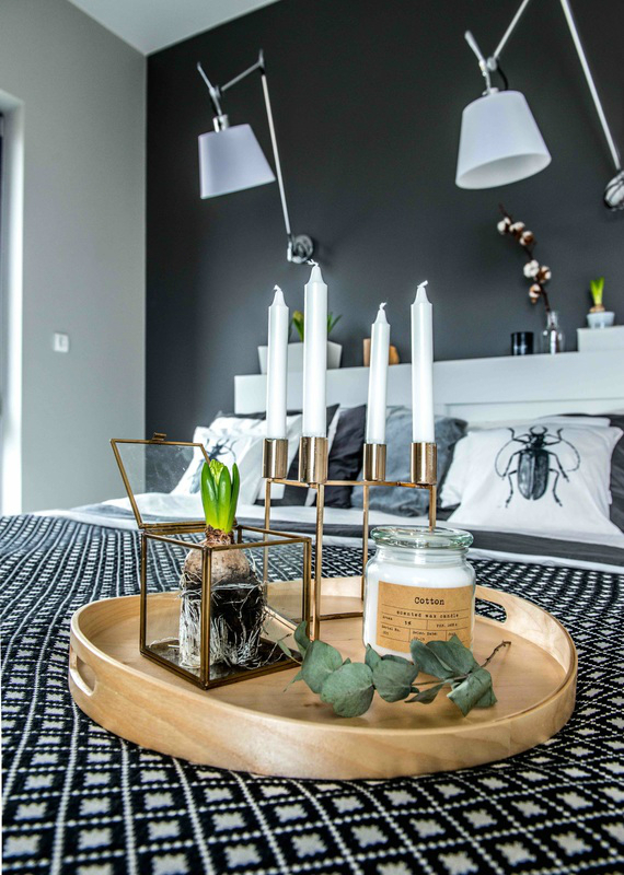 Nordic gray modern home interior design 15