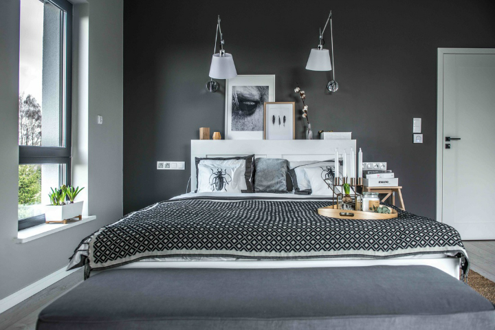 Nordic gray modern home interior design 16