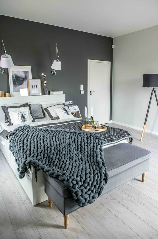 Nordic gray modern home interior design 17