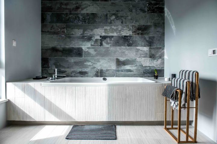 Nordic gray modern home interior design 19