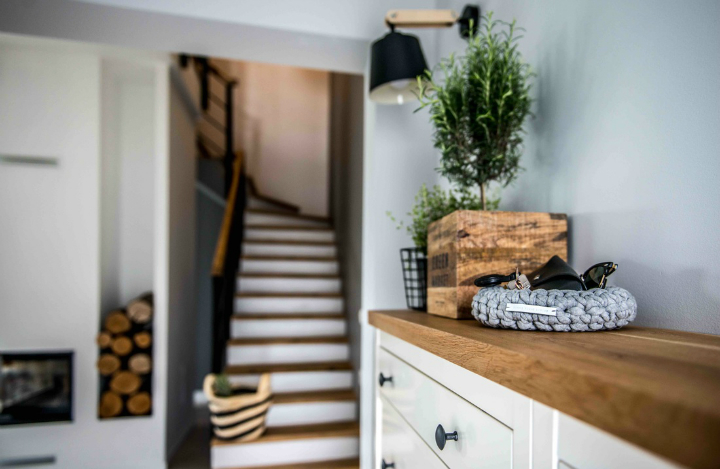 Nordic gray modern home interior design 23