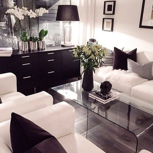 Black and White Living Room Idea 13