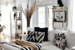 Black White and Gold Living Room Idea