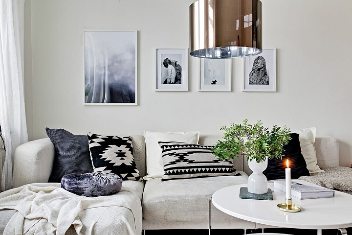 Black and White Living Room Idea 21