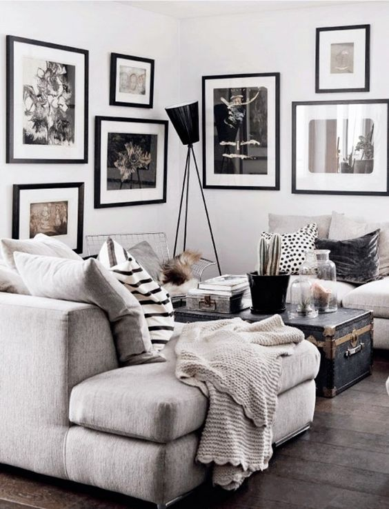 Black and White Living Room Idea 2