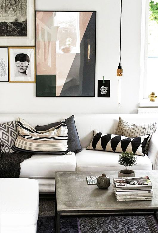 48 Black and White Living Room Ideas - Decoholic