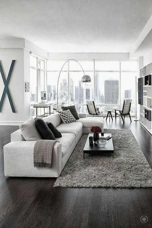 Black and White Living Room Idea 27