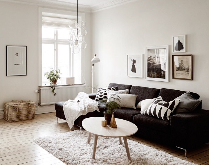 Superb Black And White Living Room Idea 28