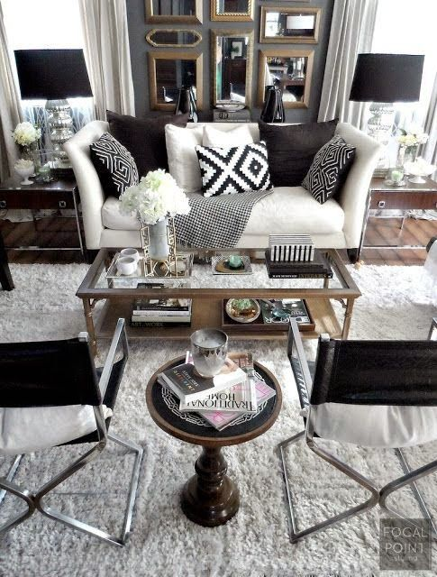 Merveilleux Black And White Living Room Idea 3