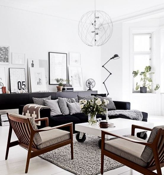 Black and White Living Room Idea 31