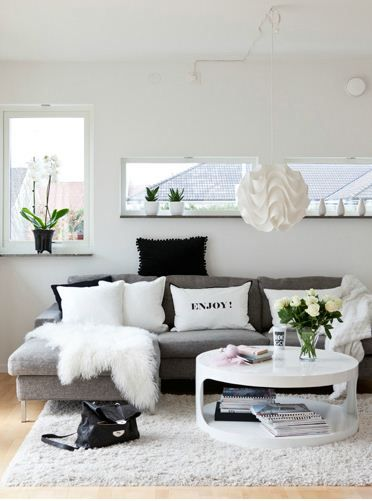Black and white living room idea 33