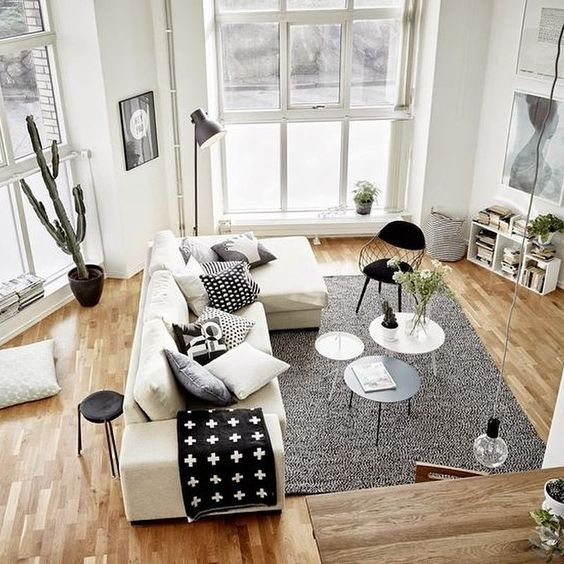 White Living Room: 48 Black And White Living Room Ideas
