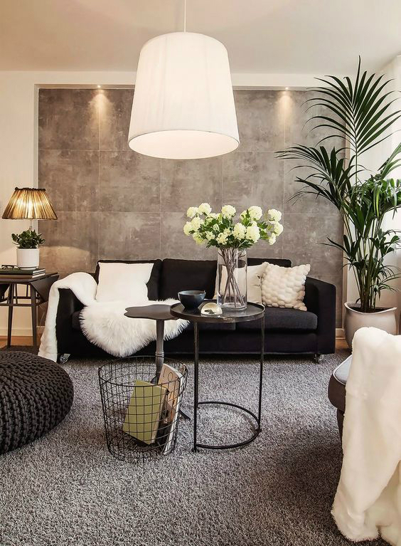 Great Black And White Living Room Idea 7