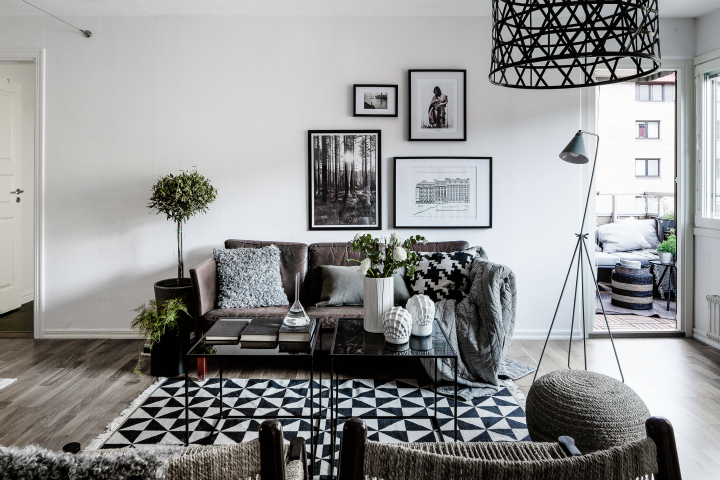 Black And White Living Room Idea 68
