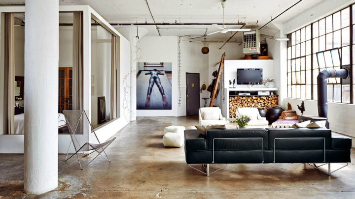 the transformation of a run down loft apartment decoholic. Black Bedroom Furniture Sets. Home Design Ideas