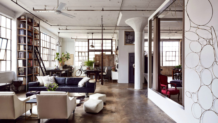 The transformation of a run down loft apartment decoholic for Loft apartments in nyc