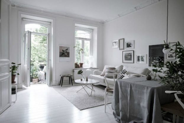White With Grayish Tones apartment interior