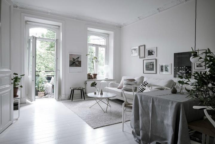 White With Grayish Tones apartment interior
