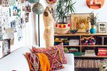 bohemian living room decor idea
