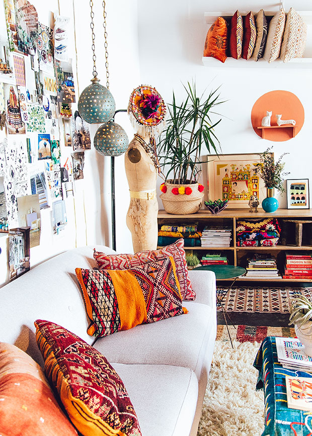 26 bohemian living room ideas decoholic - Boho chic deco ...