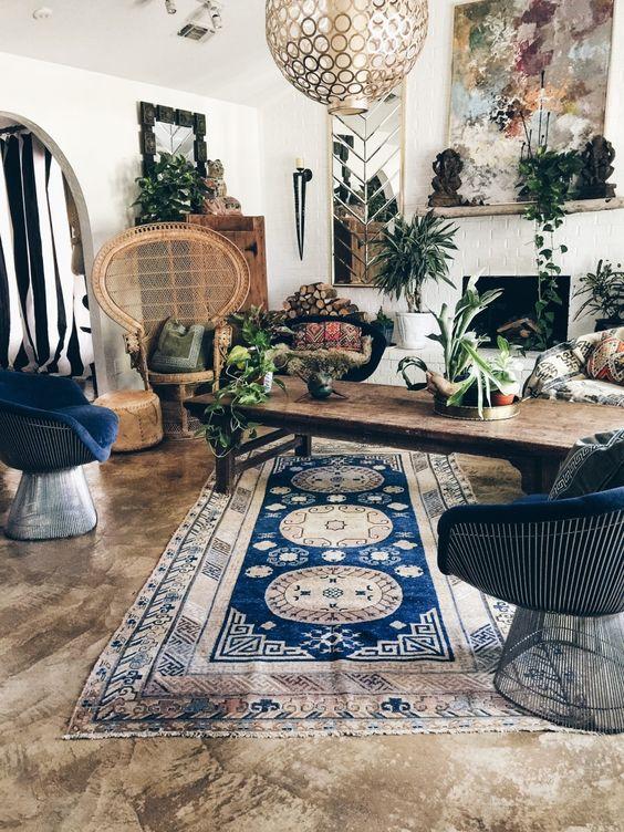 26 Bohemian Living Room Ideas - Decoholic on Bohemian Living Room Decor Ideas  id=84162