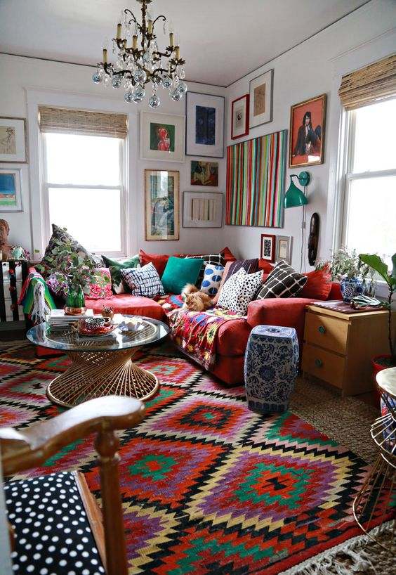 26 bohemian living room ideas decoholic for Pictures for living rooms what is in style