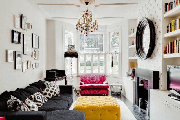 happy modern Victorian home interior