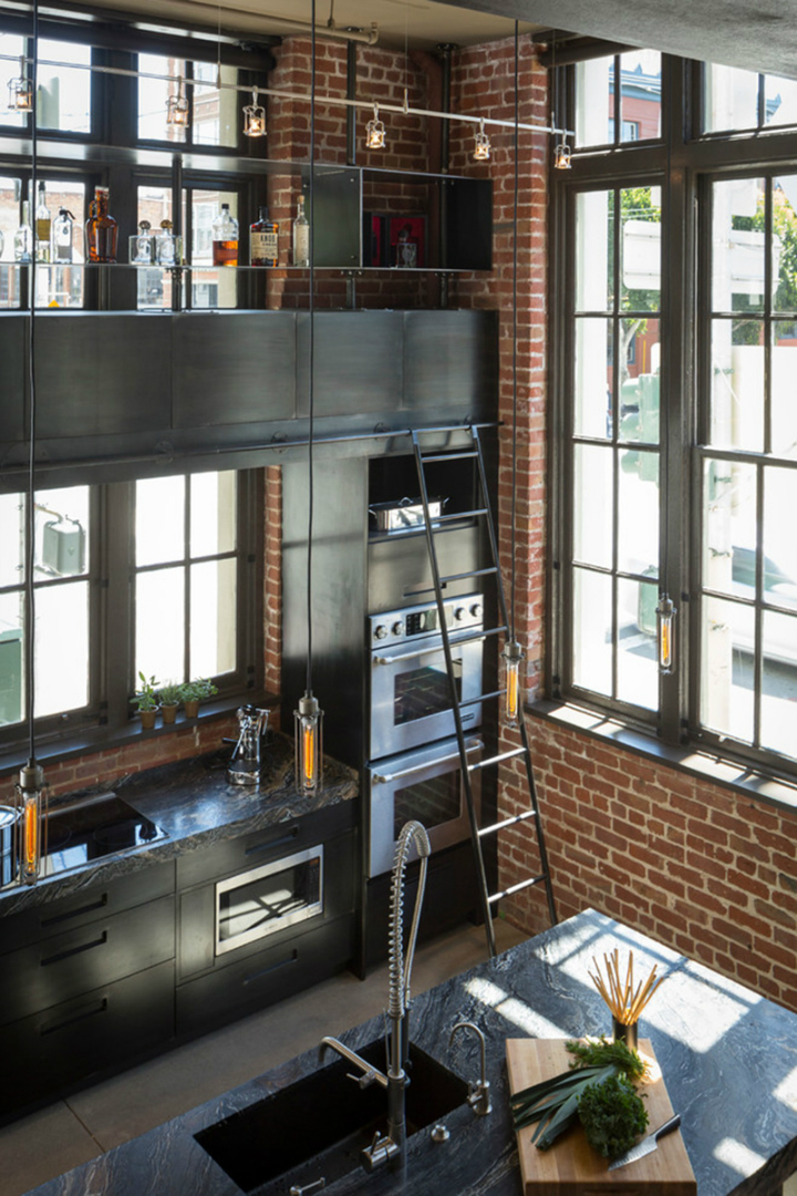 gorgeous functional kitchen with ladder 6