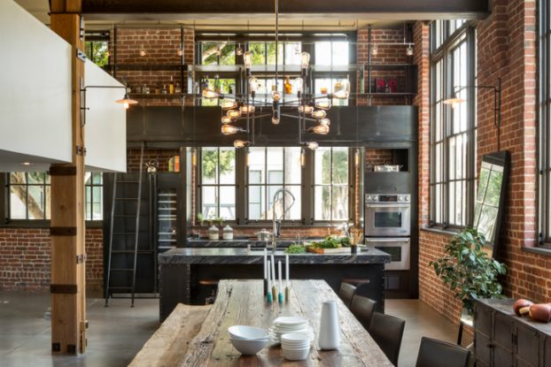 gorgeous functional kitchen with ladder