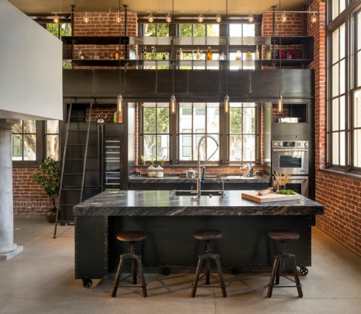 gorgeous functional kitchen with ladder 8