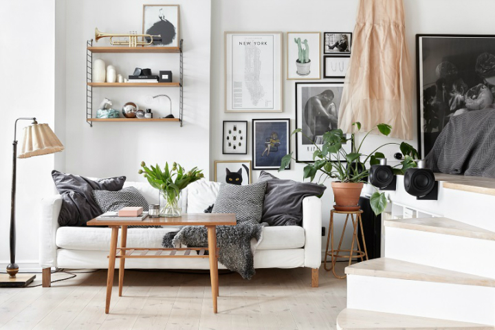 minimal Scandinavian design studio small apartment