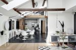 A Modernized Home Styled Labyrinth With Beams Of Natural Light