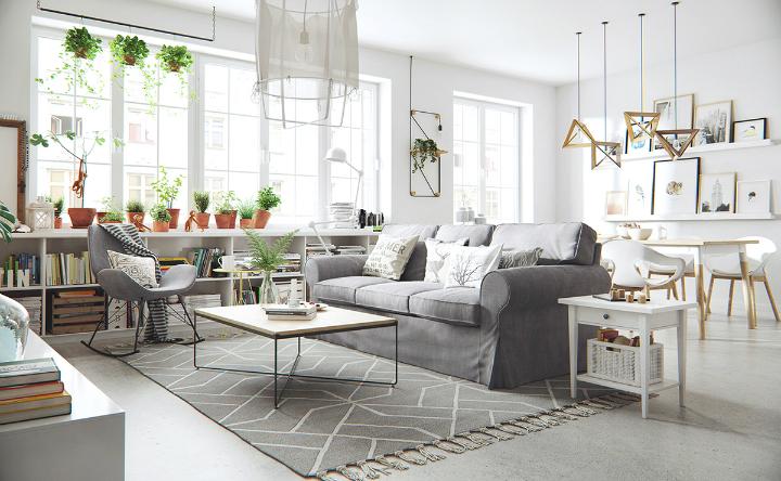 apartment with nordic style interior design 2