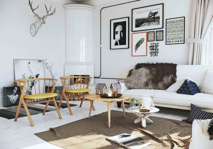 Scandinavian Apartment interior design by image box studio 2
