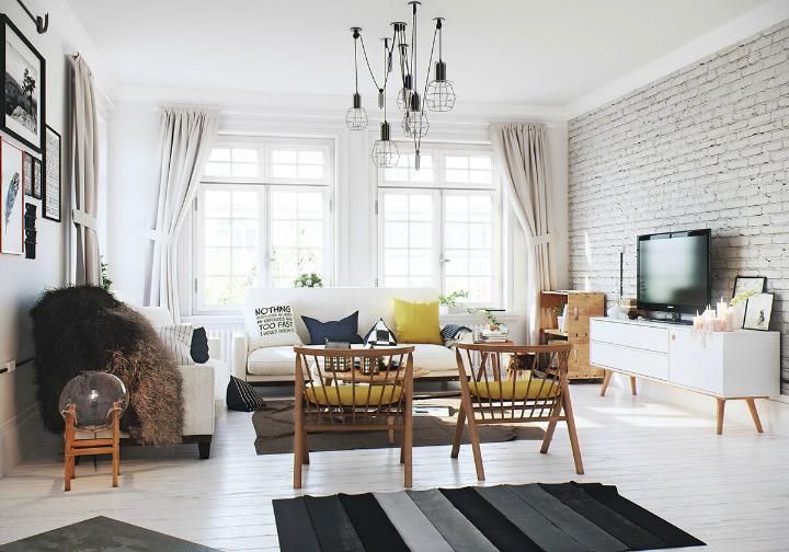 Scandinavian Apartment interior design by image box studio 4