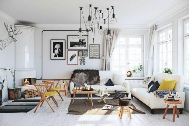 Scandinavian Apartment interior design by image box studio