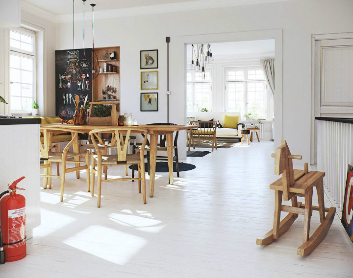 Scandinavian Apartment interior design by image box studio 7