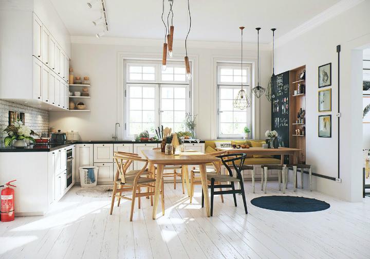 Scandinavian Apartment interior design by image box studio 8