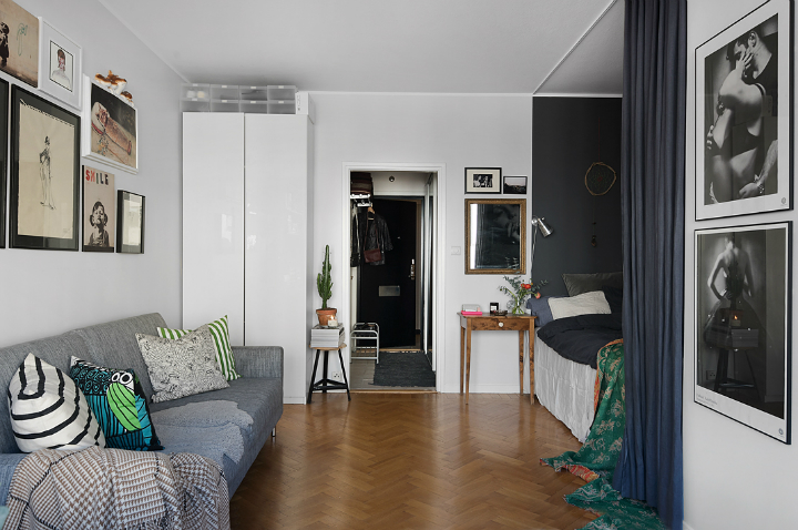 small gray scandinavian apartment 7