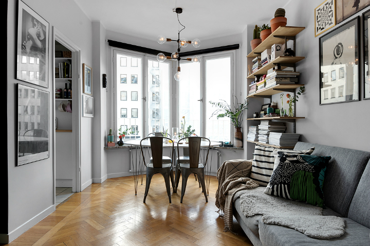 small gray scandinavian apartment