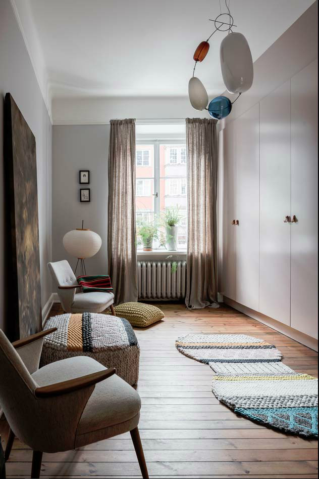 sophisticates eclectic Scandinavian apartment interior design 17