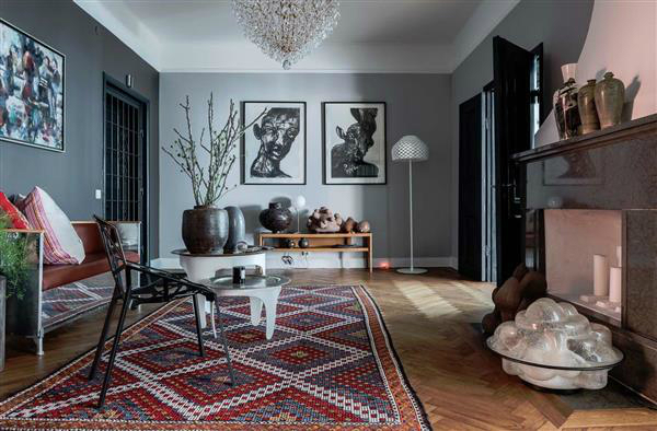 sophisticates eclectic Scandinavian apartment interior design 3