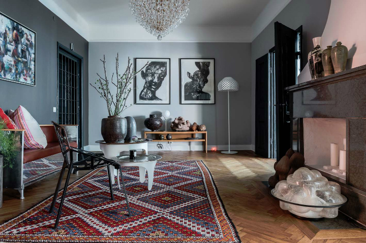 sophisticates eclectic Scandinavian apartment interior design 5