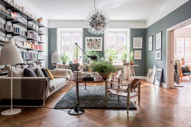sophisticates eclectic Scandinavian apartment interior design