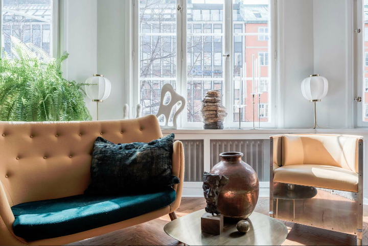 sophisticates eclectic Scandinavian apartment interior design 9