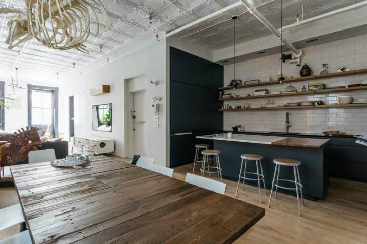 Tribeca industrial loft interior 8