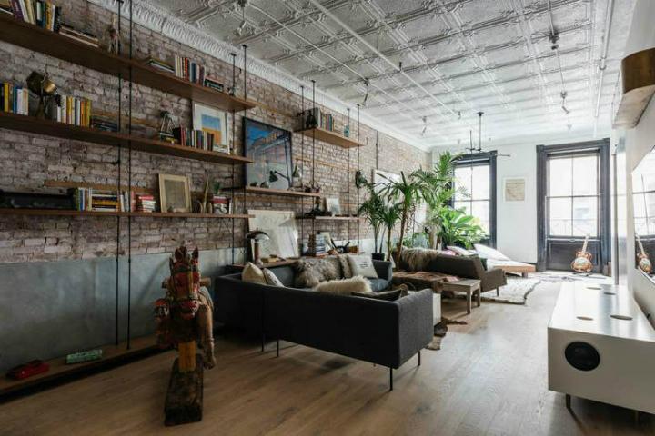 Tribeca industrial loft interior