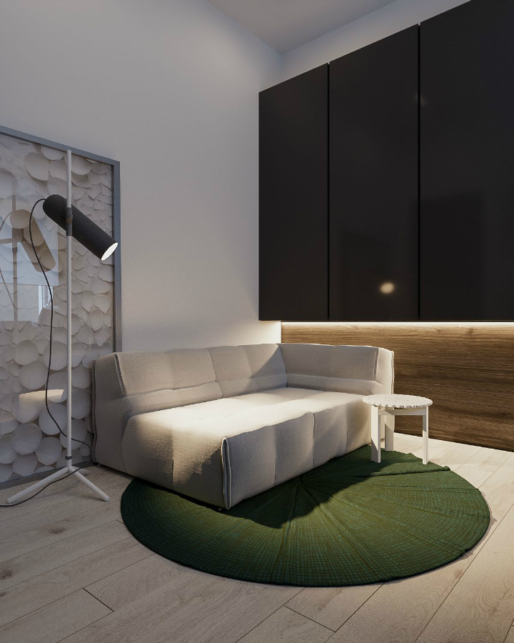 Minimalist Black and White Interior 15