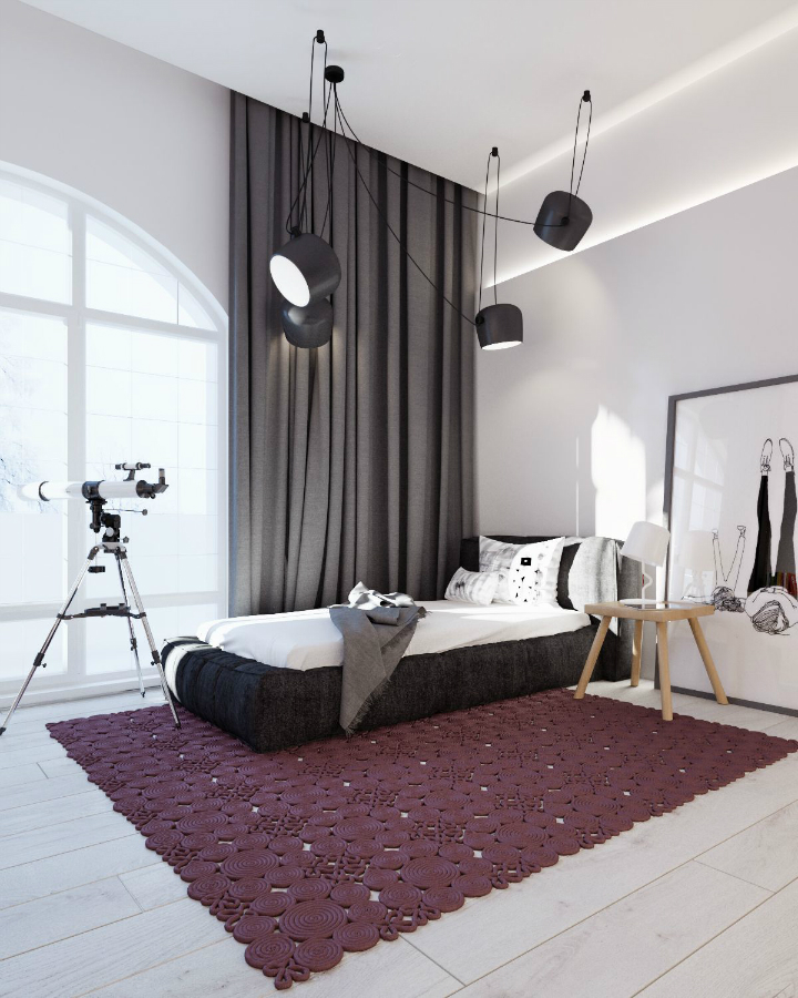 Minimalist Black and White Interior 17