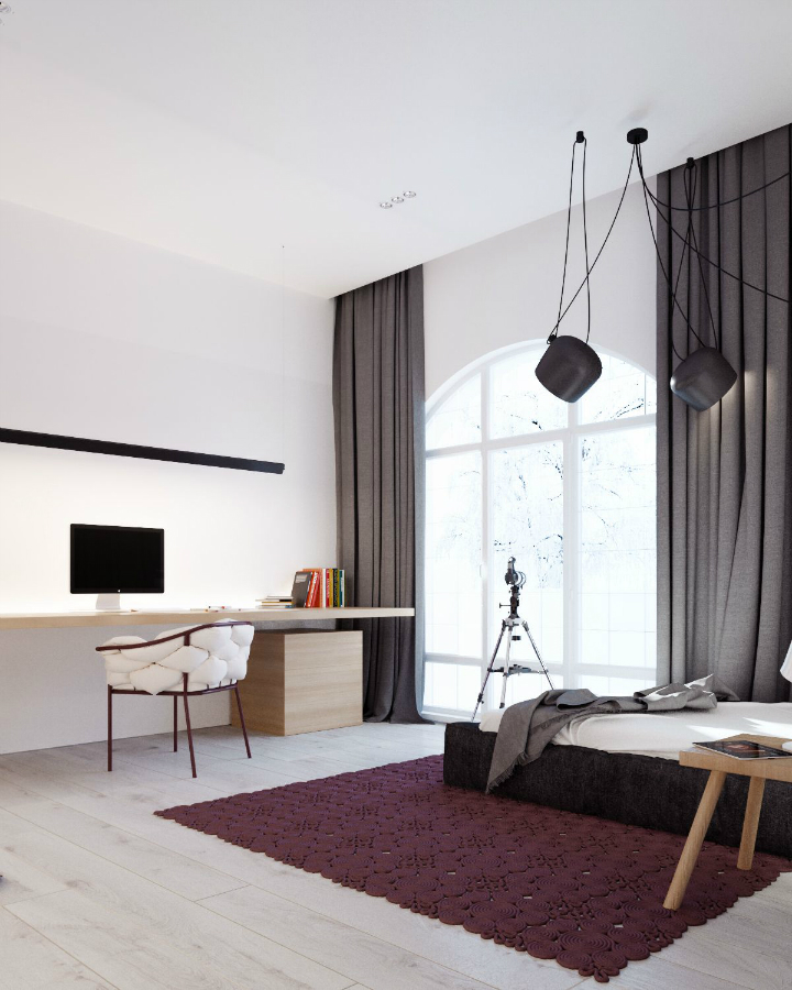 Minimalist Black and White Interior 18